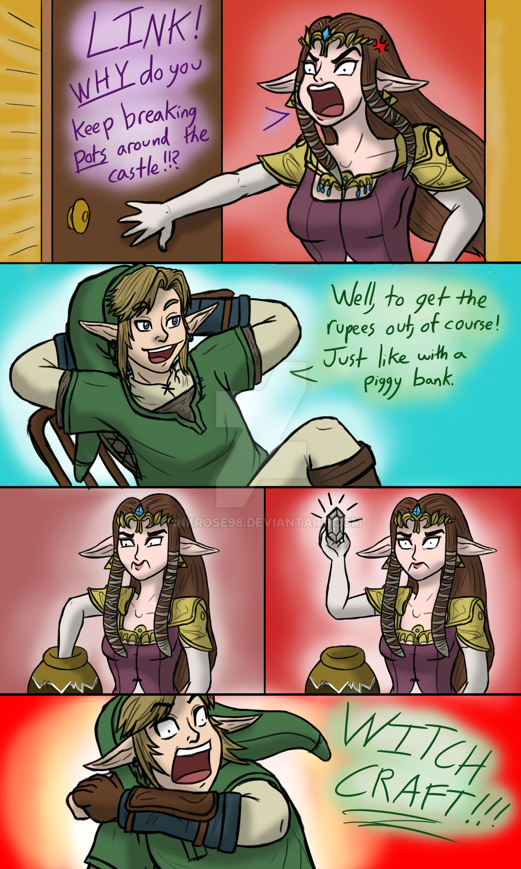 A comic about why Link breaks pots.