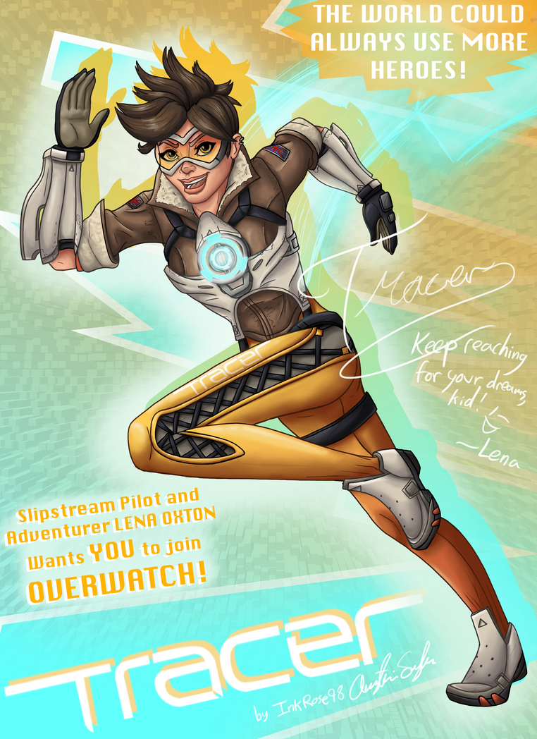 Tracer Poster by InkRose98