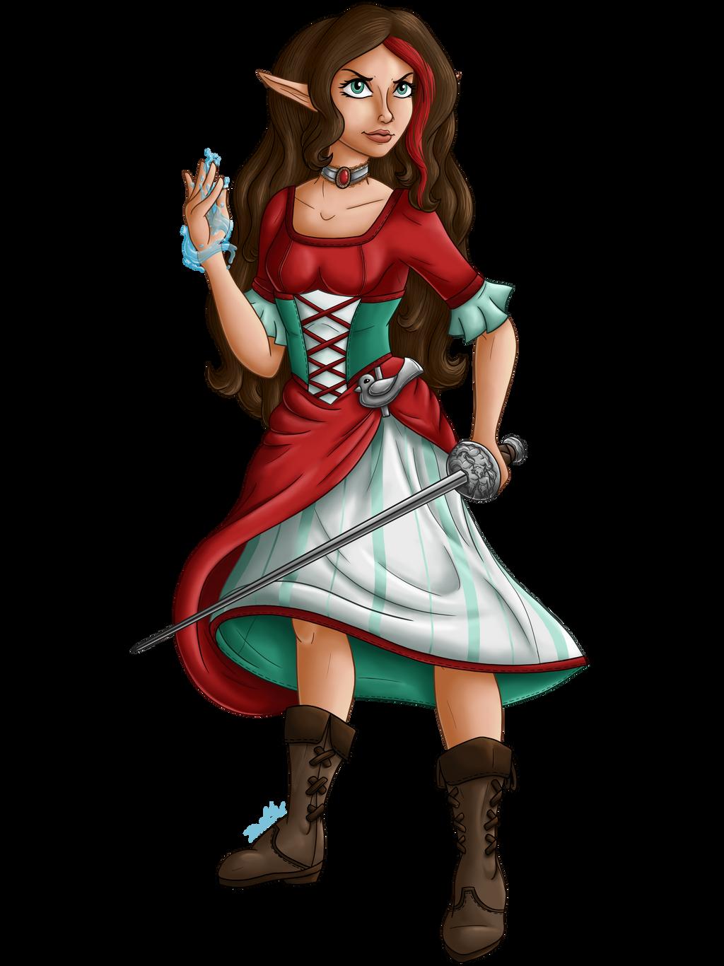 Aelwen Chracter Illustration 2