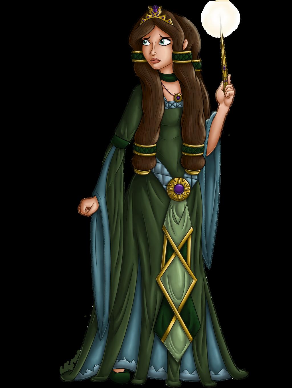Aelwen Character Illustration 1 by InkRose98