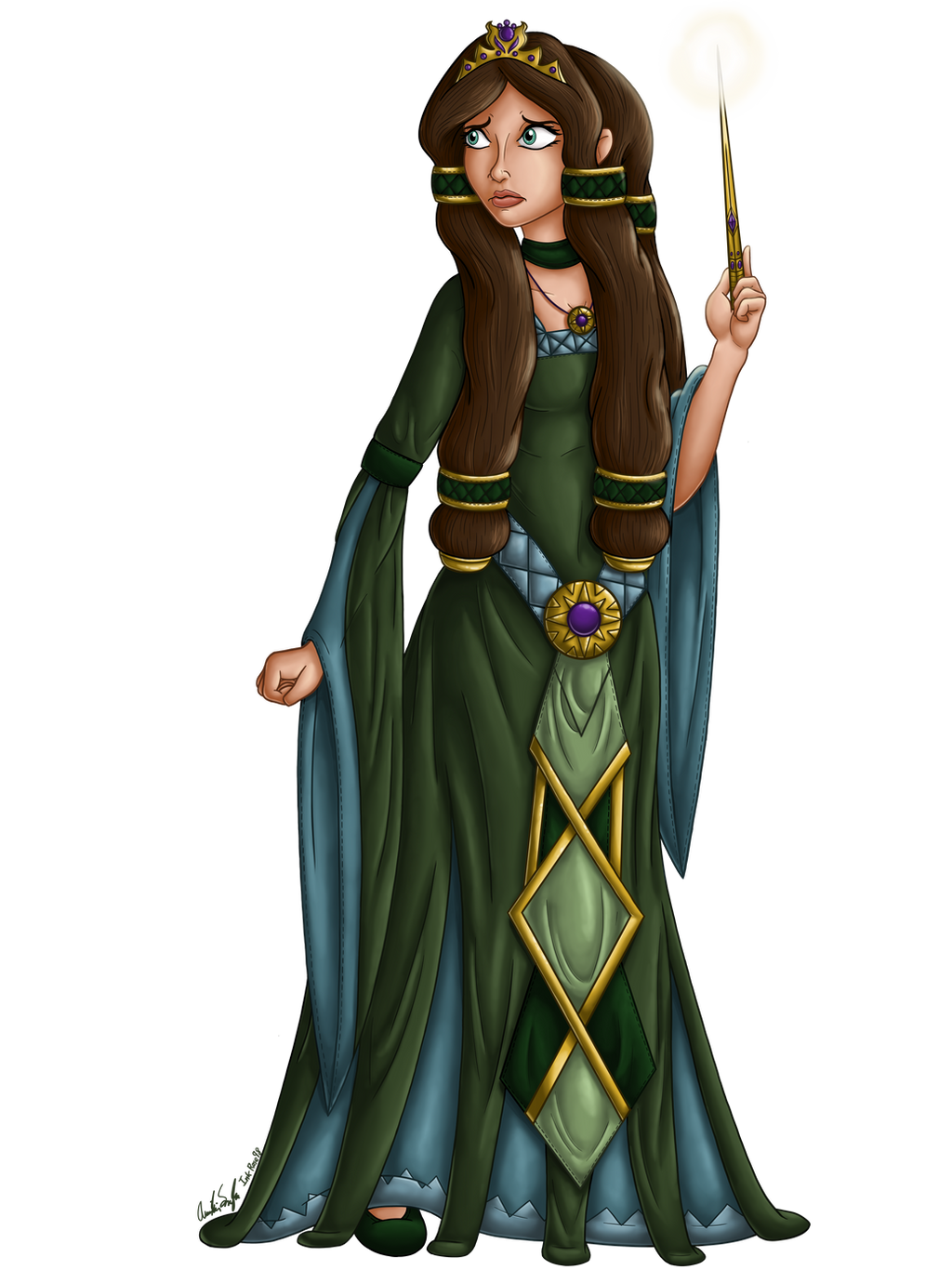 Aelwen Character Illustration 1 by InkRose98