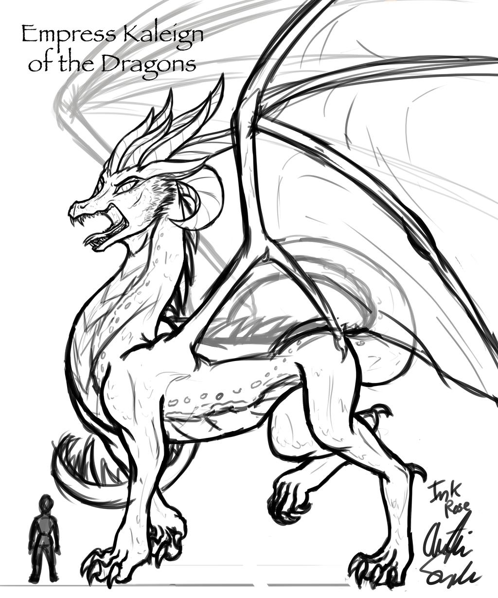 Dragon Empress Kaleign by InkRose98