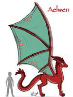 Aelwen Dragon Design Update by InkRose98