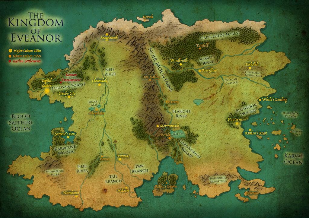 Map of Eveanor (Dragon Queen)