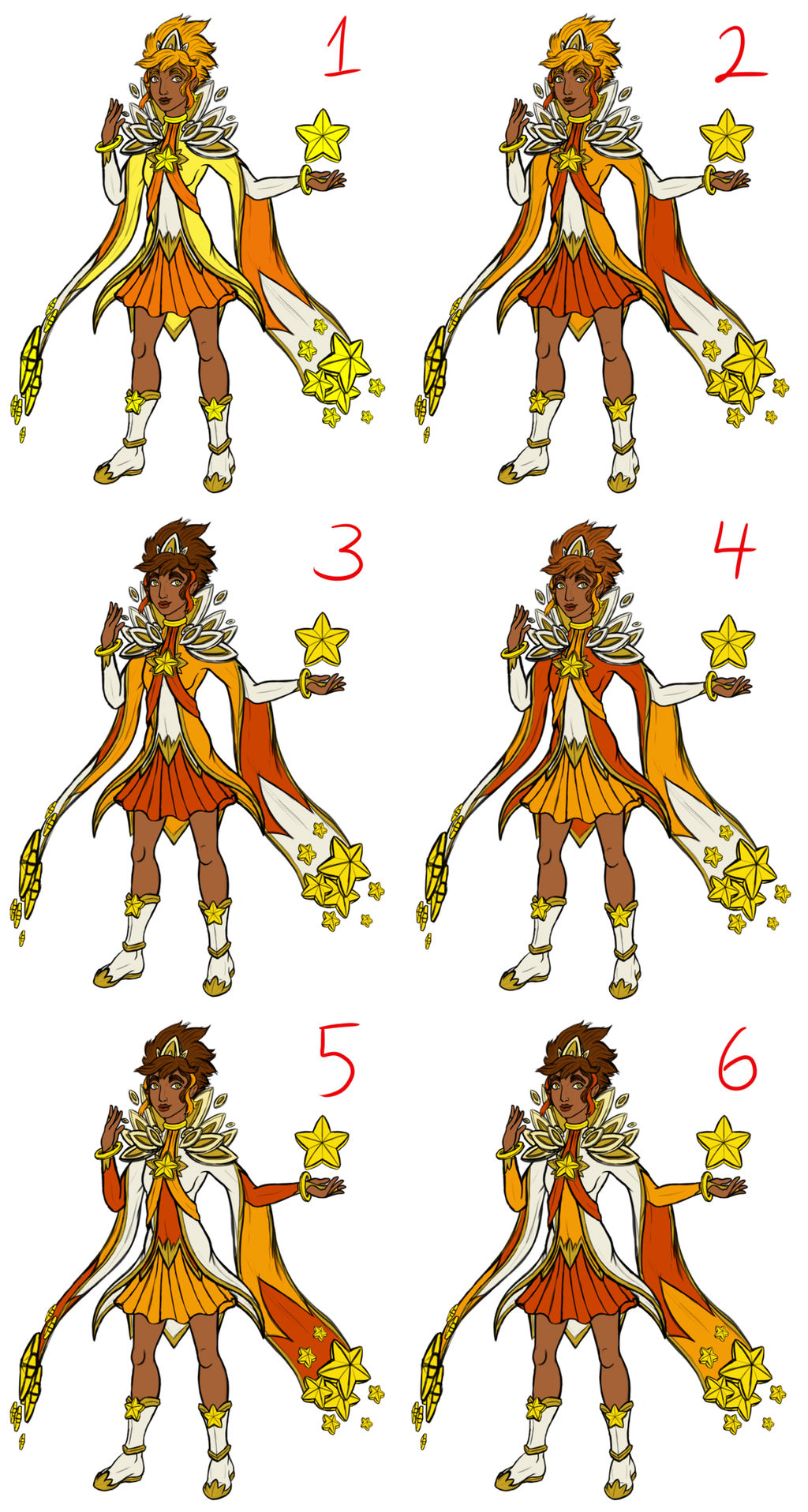 Star Guardian Taliyah Color Palettes