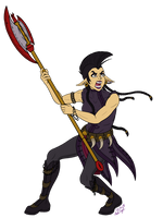 Battle Kera (Line Art+Flat Colors) by InkRose98