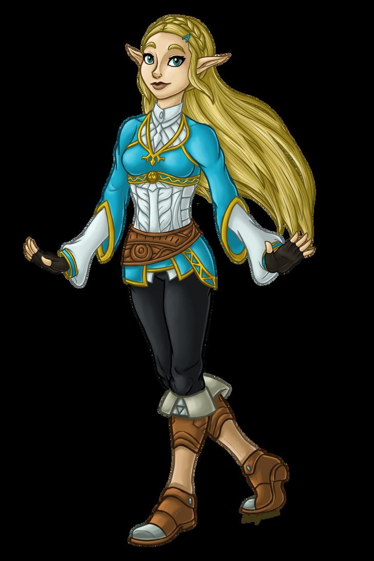 Zelda Character Design Breath Of The Wild : Breath of the wild zelda by inkrose on deviantart
