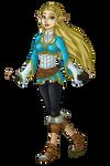 Breath of the Wild Zelda by InkRose98