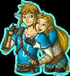 BOTW Zelink Hugs by InkRose98