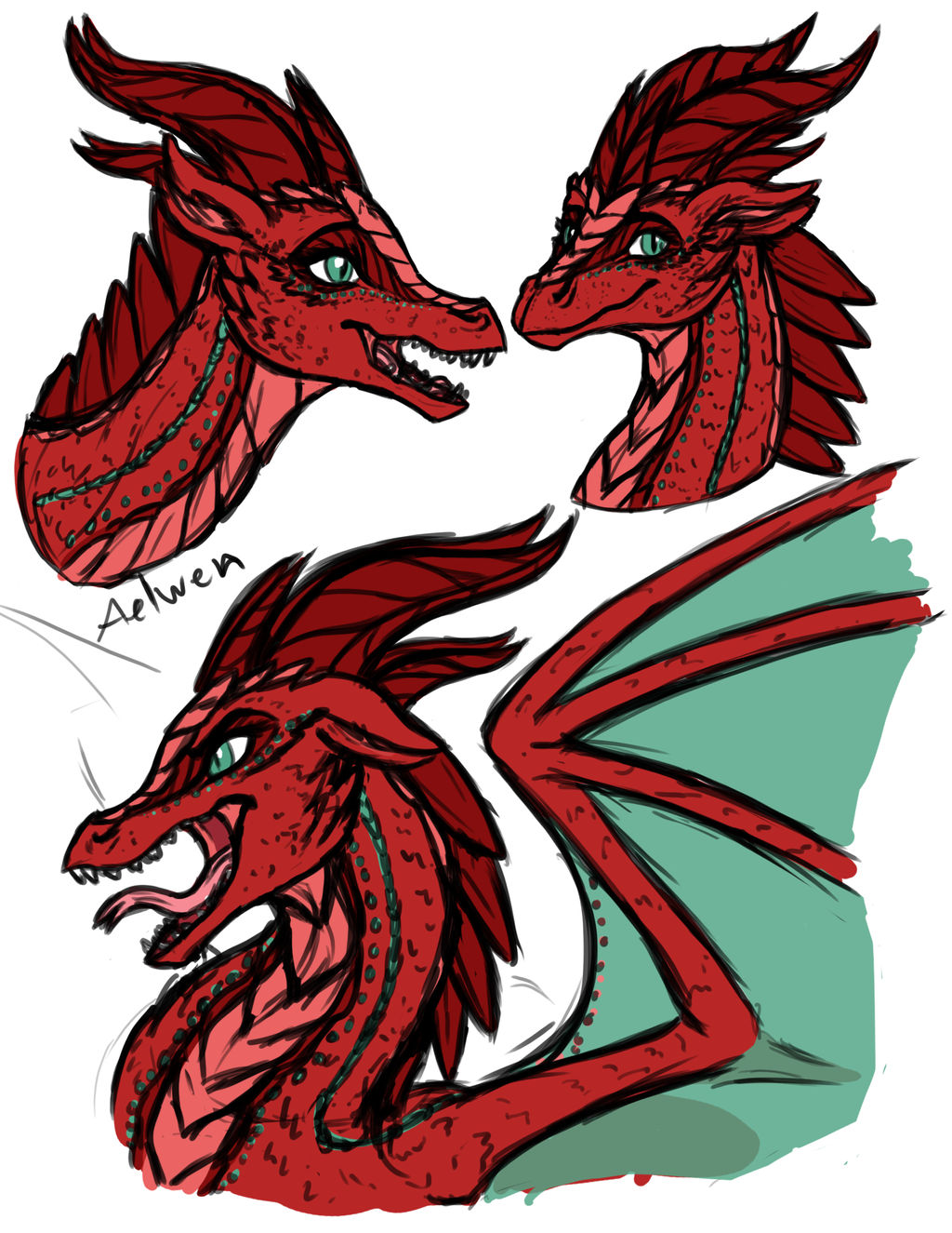 Aelwen Rough Sketches