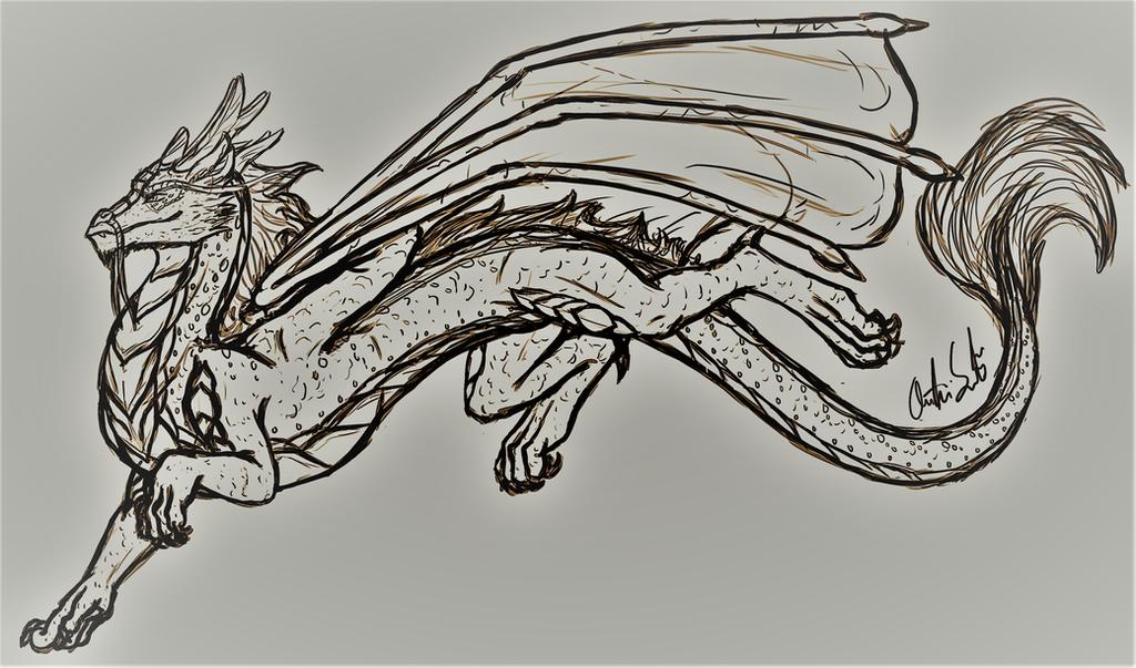 Male Koanan Dragon by InkRose98
