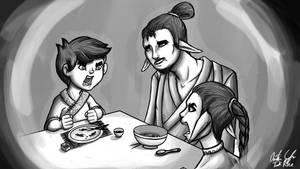 Kevani Family Dinner by InkRose98