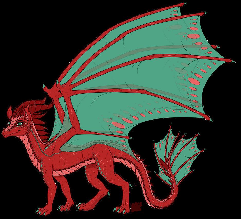 Princess Aelwen (Dragon Form Redesign) by InkRose98