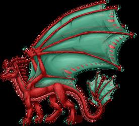 Aelwen's Dragon Form (Shaded)