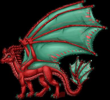 Aelwen's Dragon Form (Shaded) by InkRose98