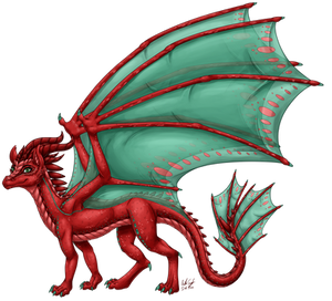 Aelwen's Dragon Form (Shaded)