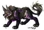 Direwolf and Panther Chimera
