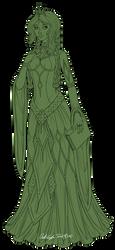Aelwen Redesign Lineart (WIP) by InkRose98