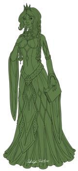 Aelwen Redesign Lineart (WIP)