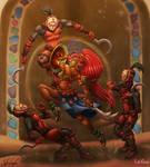 Champion Urbosa VS The Yiga Clan by InkRose98