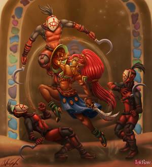 Champion Urbosa VS The Yiga Clan