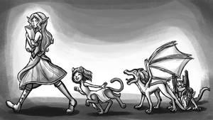 Dragon Queen Chapter 19 (Kids) by InkRose98