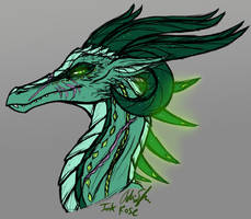 Empress Kaleign Portrait Sketch by InkRose98