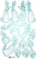 Spectral Lakes Eleanor Sketch Dump by InkRose98