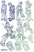 Chris Faraday Sketch Dump by InkRose98