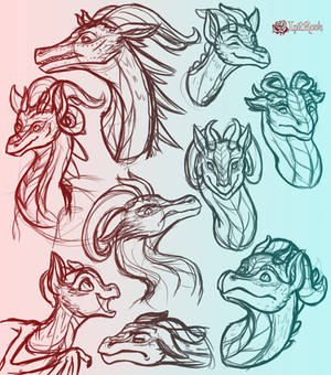 August Dragon Sketch Dump