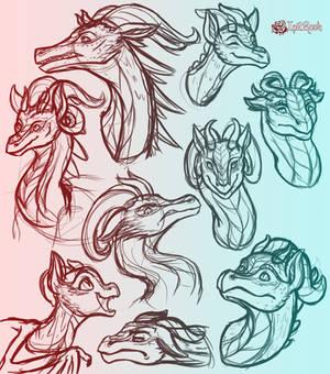August Dragon Sketch Dump