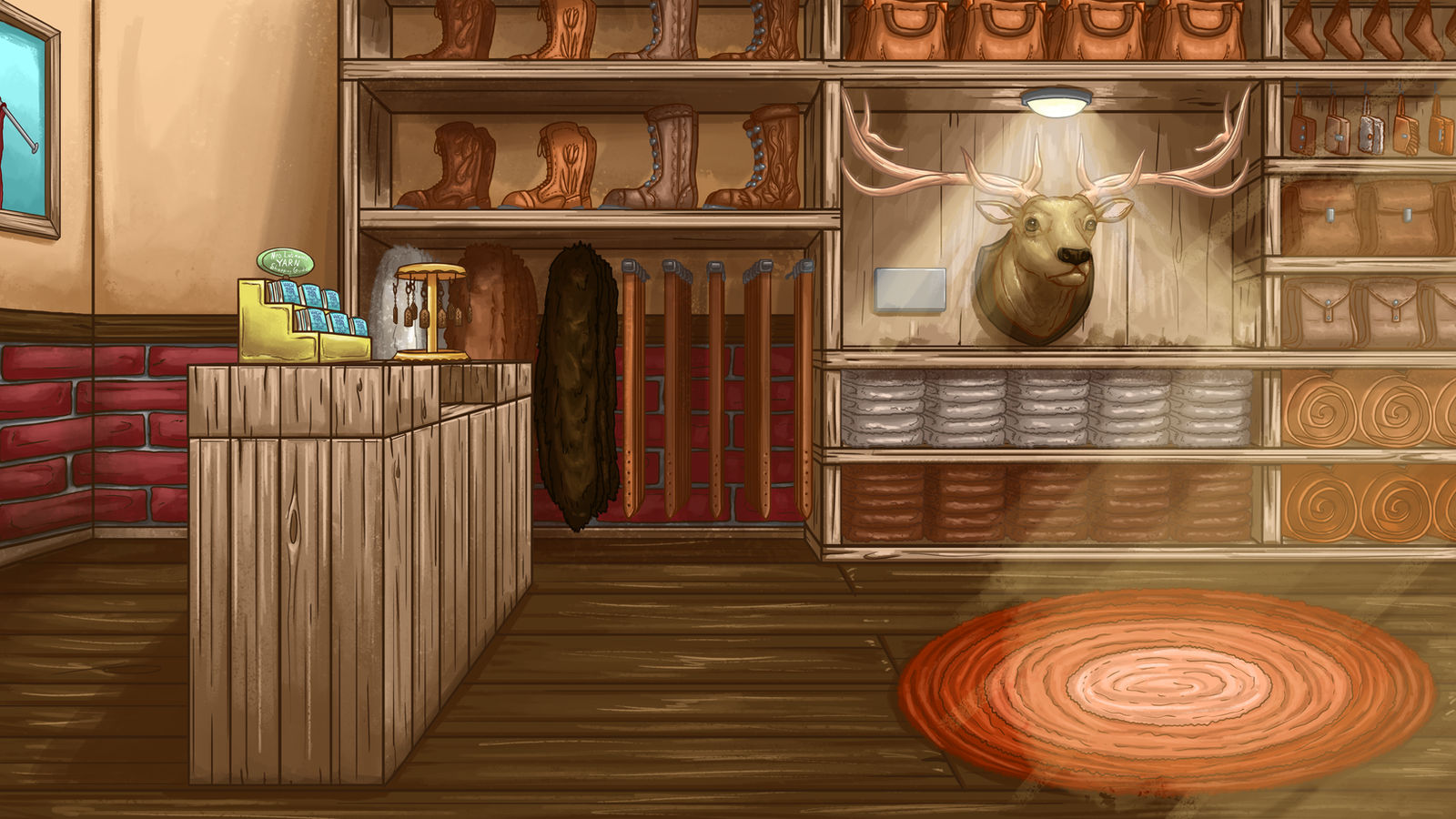 Yarn and Leather Shop Side by InkRose98
