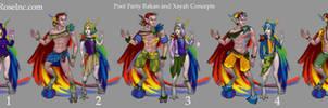 Pool Party Xayah and Rakan Concepts