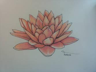 Tattoo commission: Lotus Flower