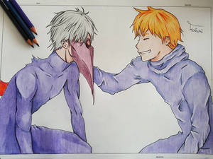 Kaneki and Hide