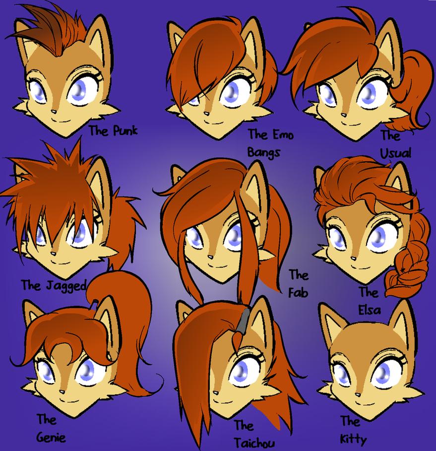 Sally Hairstyles by Hayakain on DeviantArt