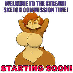 Sketch commission Livestream is starting soon!
