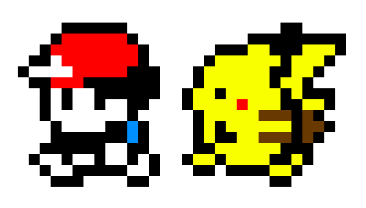 Pokemon Yellow Character And Pikachu Sprites By Eri Tchi On
