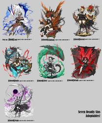 [WIP] Seven Deadly Sins Adoptables!