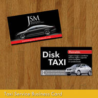 Taxi Service Business Card by Undead83