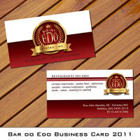 Edo's Bar Business Card 2011 by Undead83