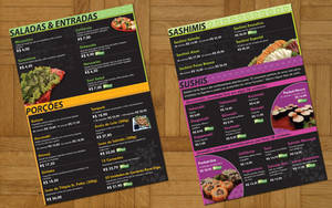 Japanese Restaurant Menu V2 by Undead83