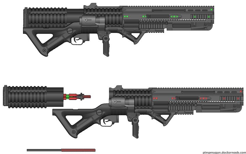 LP ETE Single shot Nail Rifle by daemon99 on DeviantArt