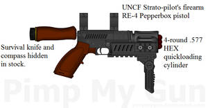 Raufoss and Evansworth Pepperbox Survival Pistol