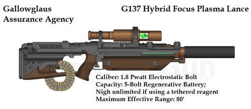 Gallowglaus G137 Plasma Lance by daemon99