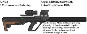 UNCF Argus M109R2 SOPMOD Gauss Rifle