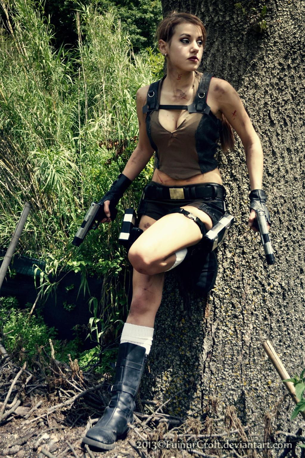 Lara Croft - Tomb Raider cosplay III. by EnjiNight on