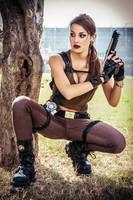 Tomb Raider Underworld - Behind the tree by FuinurCroft