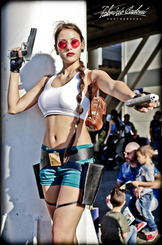 Tomb Raider III Lara Croft at Romics 2014 by FuinurCroft