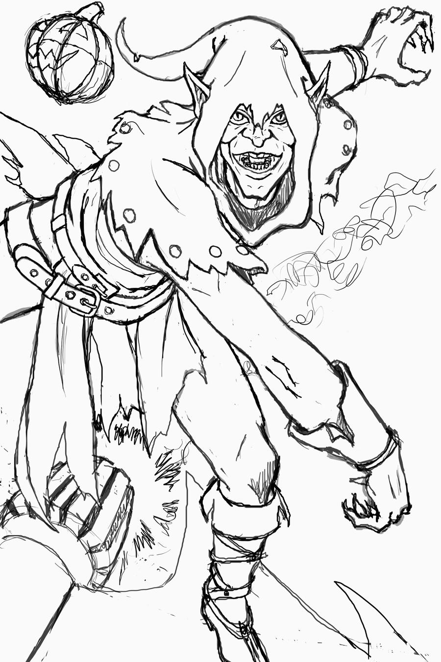 coloring pages green goblin - photo#23